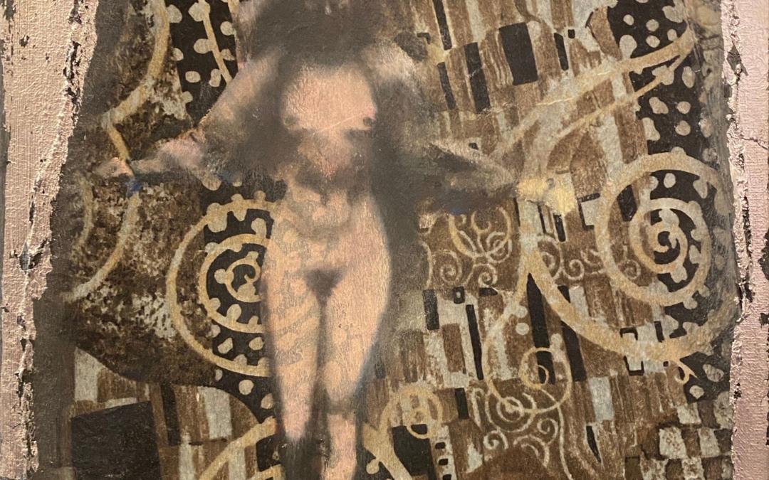 Figure on Klimt Fabric