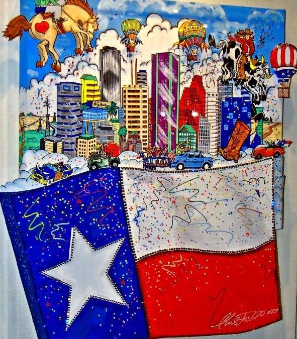 The Flying Texas Flag