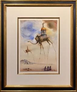 Dali Elephant Spatiaux framed