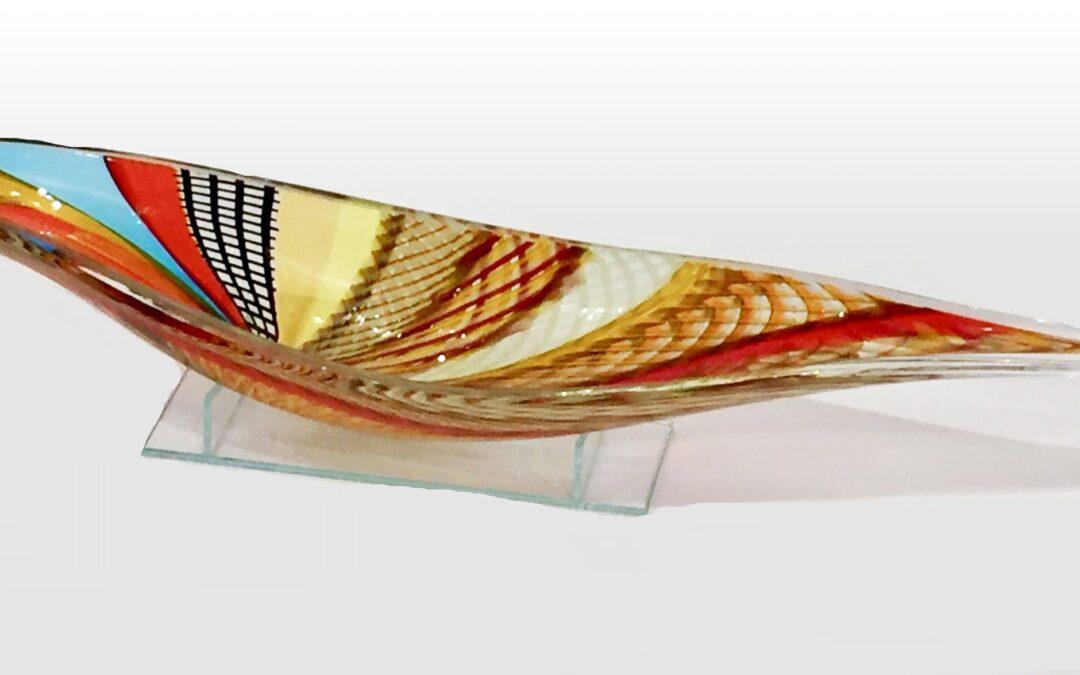 Glass Vase (Boat)