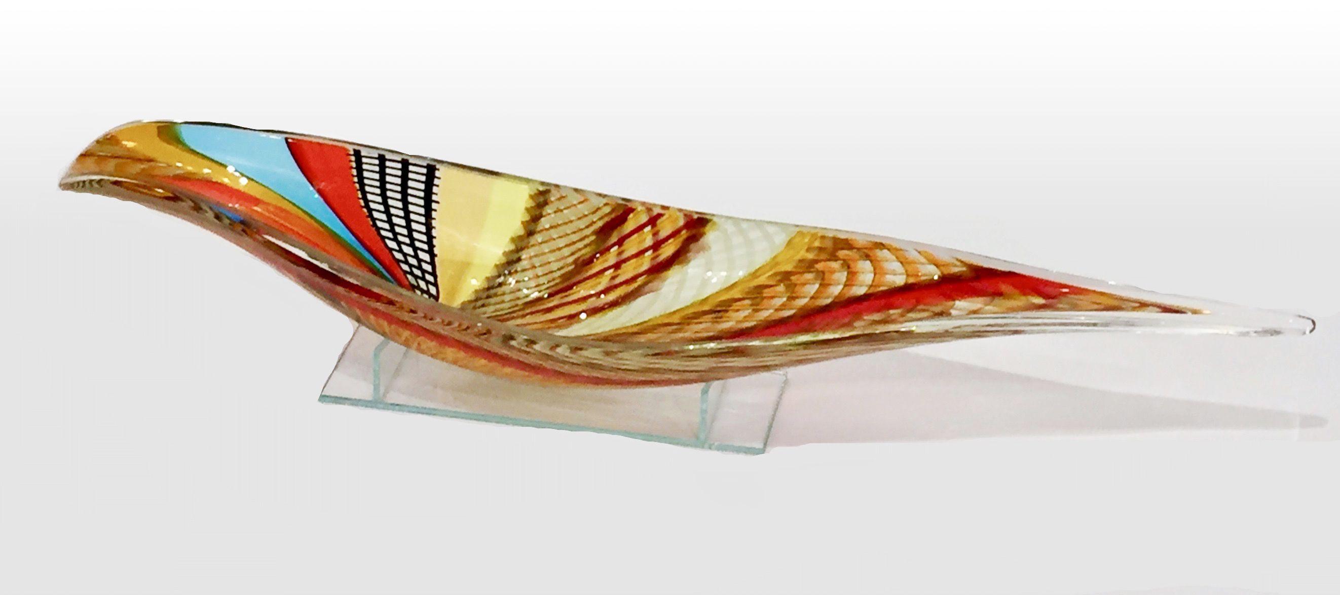 Schiavon - Glass vase boat