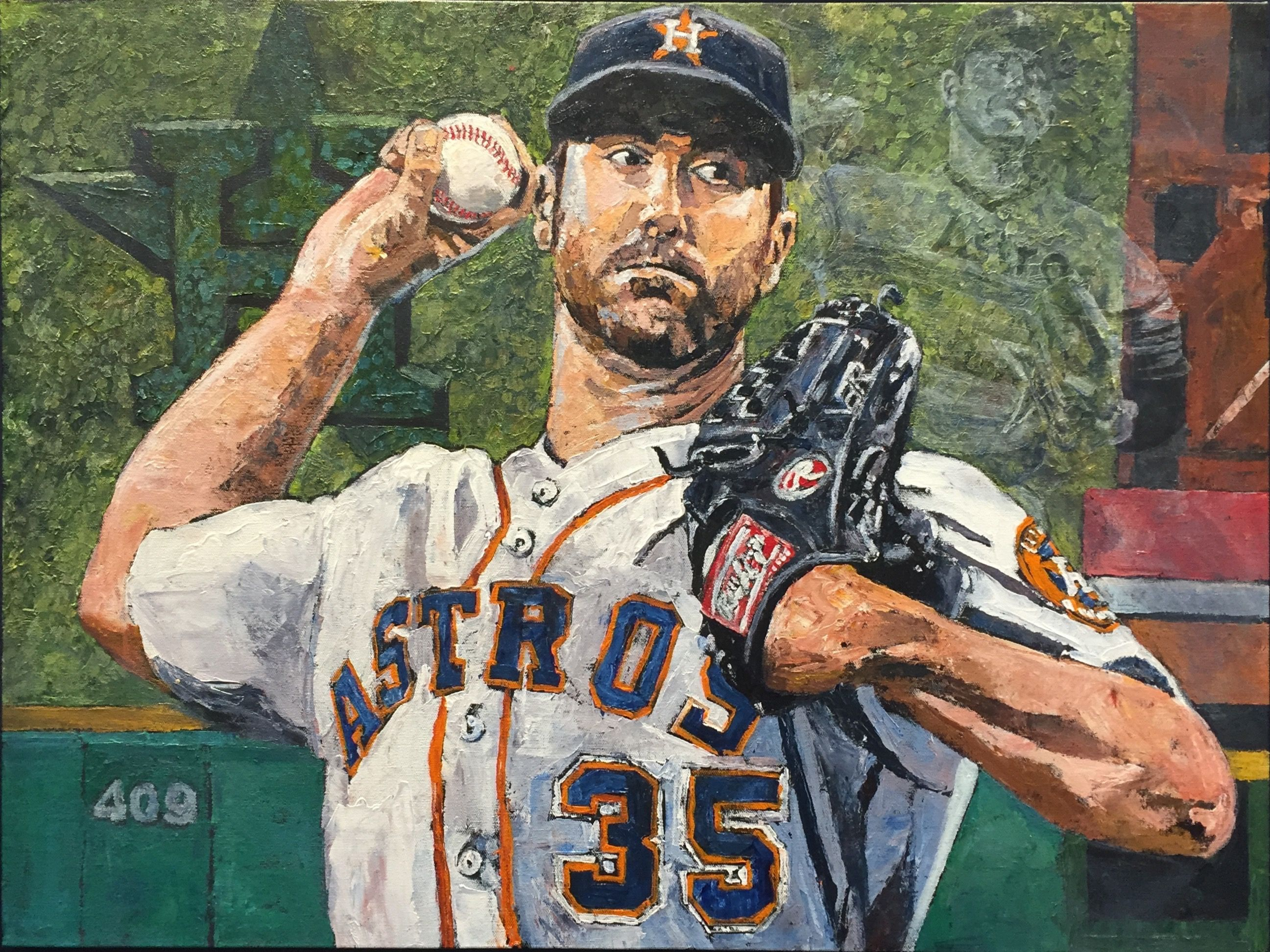 Opie Otterstad - Verlander Comes to Houston / Off The Wall Gallery