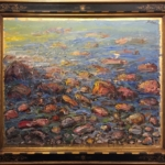 Zupan - ROCKS AND SEA (3941), 2011 framed