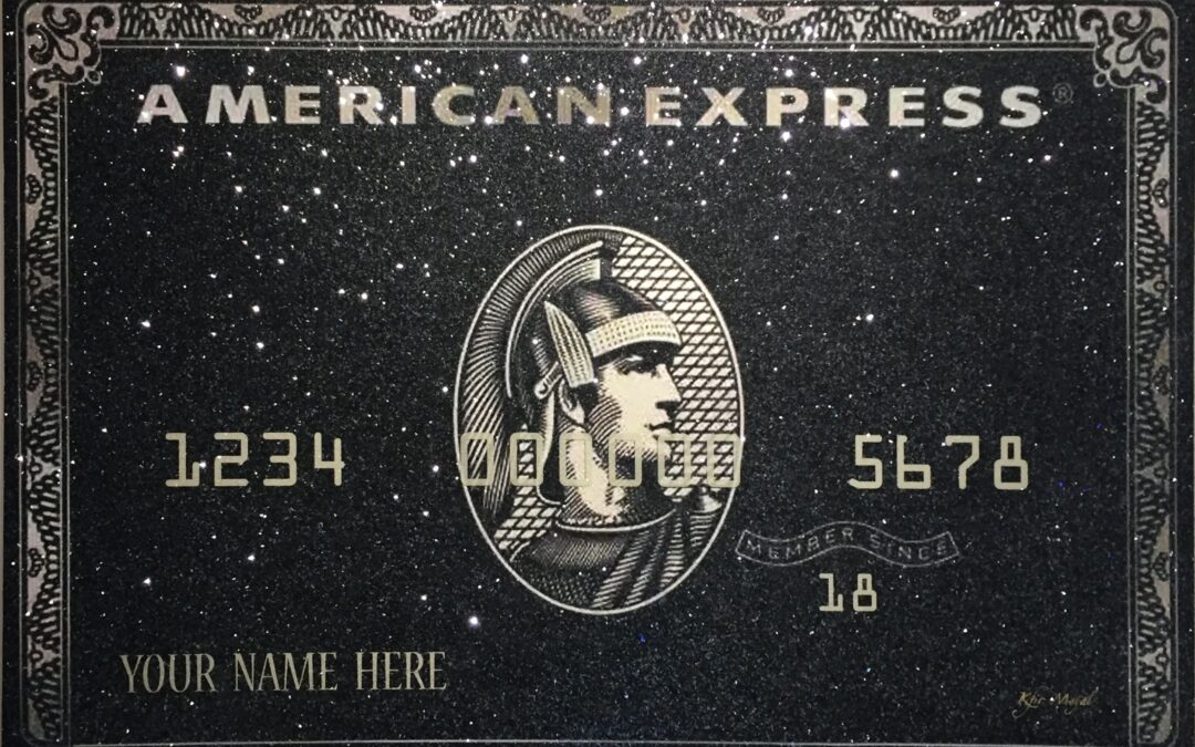 Black American Express – Your Name Here / Customizable Artwork