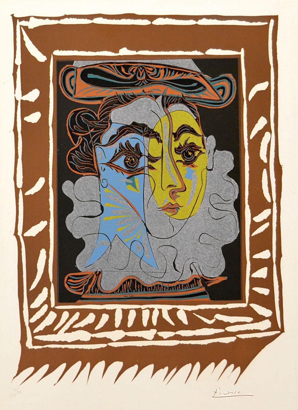 Picasso - Portrait De Femme A La Fraise Et Au Chapeau