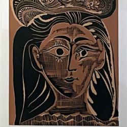 Portrait de Jacqueline au Chapeau de Paille Fleuri