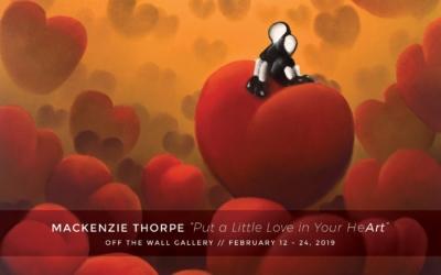 Mackenzie Thorpe returns to Off The Wall Gallery
