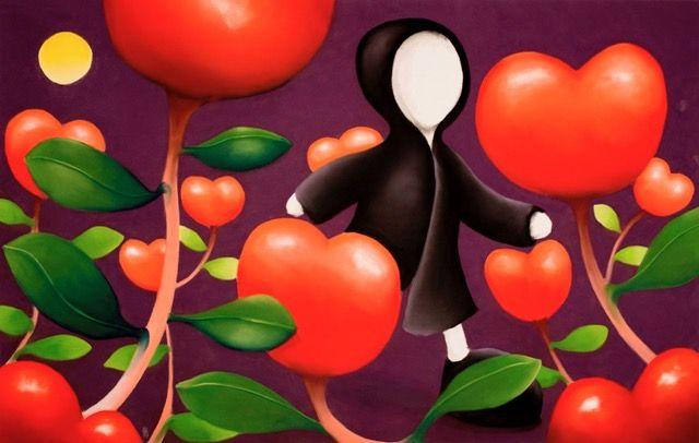 Mackenzie Thorpe / Walking Through Love - Original pastel on paper - Off The Wall Gallery