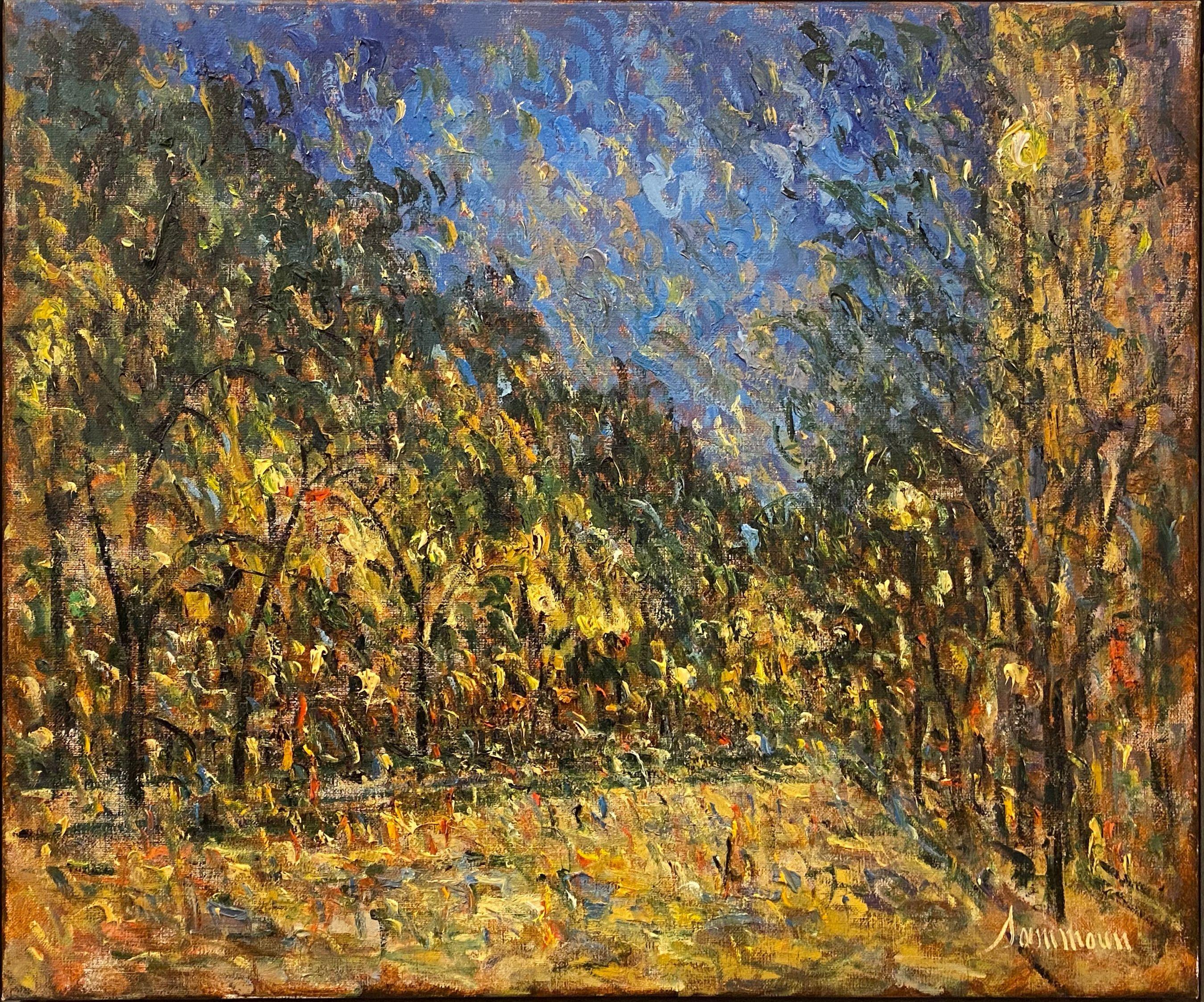 Samir Sammoun - Boston by Night - Original painting - Off The Wall Gallery Houston