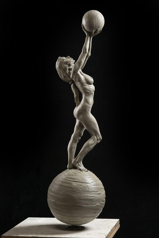 Richard MacDonald - Diane, Earth and Moon - Off The Wall Gallery Houston