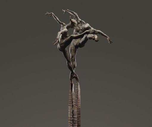 Richard MacDonald, Cast-Sculpture in Bronze, Off The Wall Gallery Houston