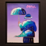 Peter Max - Umbrella Man on Purple - Off The Wall Gallery Houston