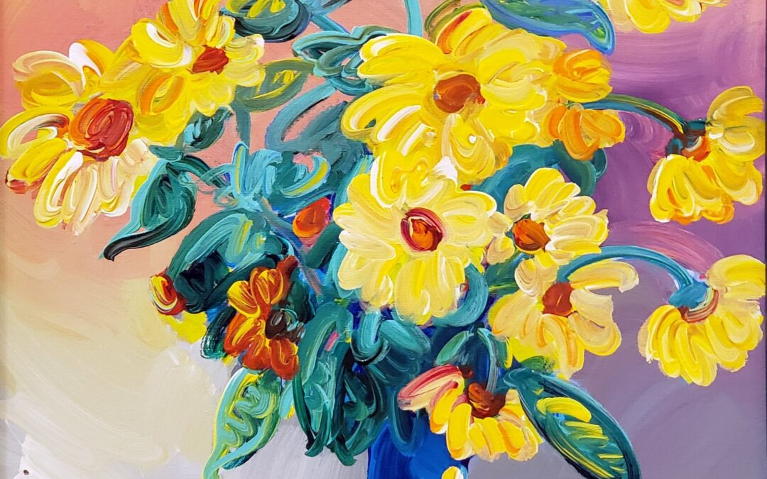 Homage to Monet: Sunflowers