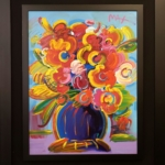 Peter Max - Vase of Flowers - Off The Wall Gallery Houston