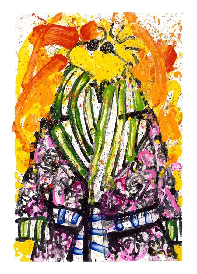 Tom Everhart - Shorty Wearing Jim Dine - Off The Wall Gallery