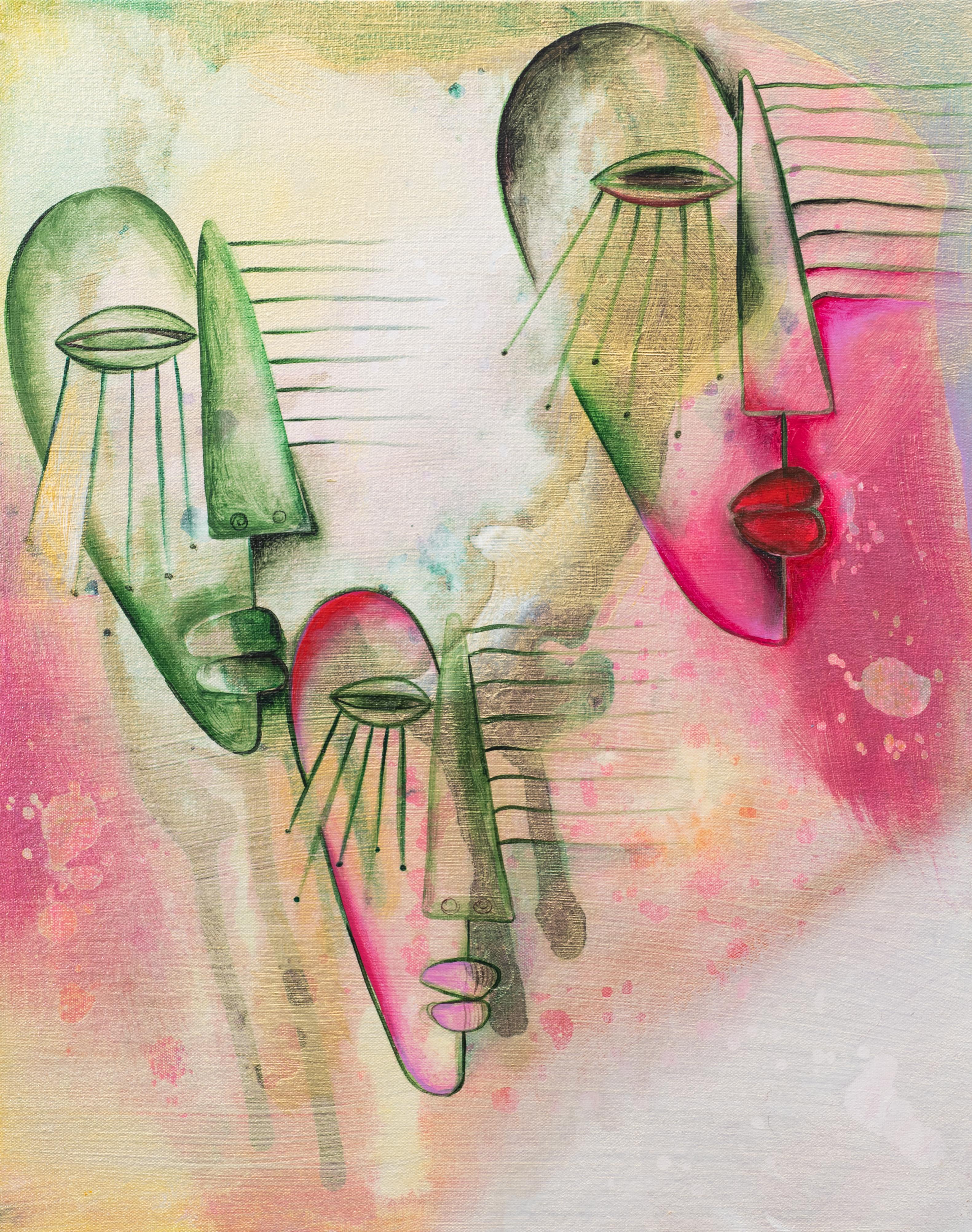 Alexandra Nechita - Progress Not Perfection, 2019; Painting; Original acrylic on canvas; Signed; Contemporary Art; Off The Wall Gallery; Houston.