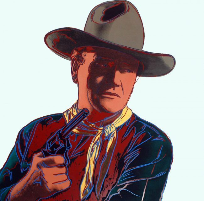 Andy Warhol - John Wayne - Cowboys and Indians - Off The Wall Gallery Houston