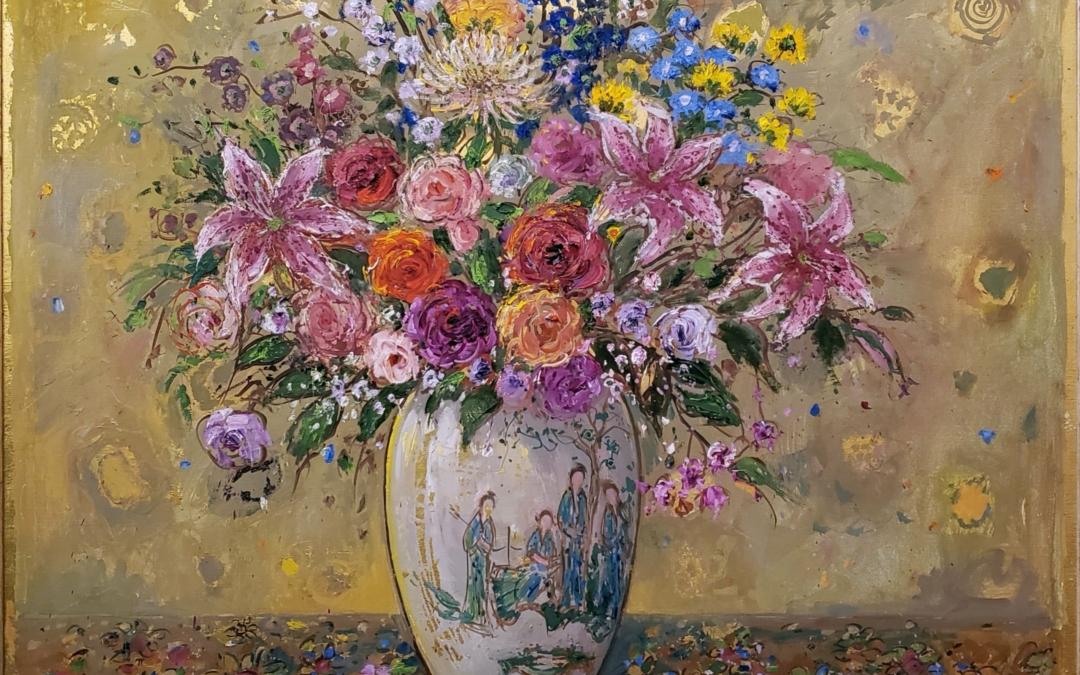 Bouquet on Golden Ground