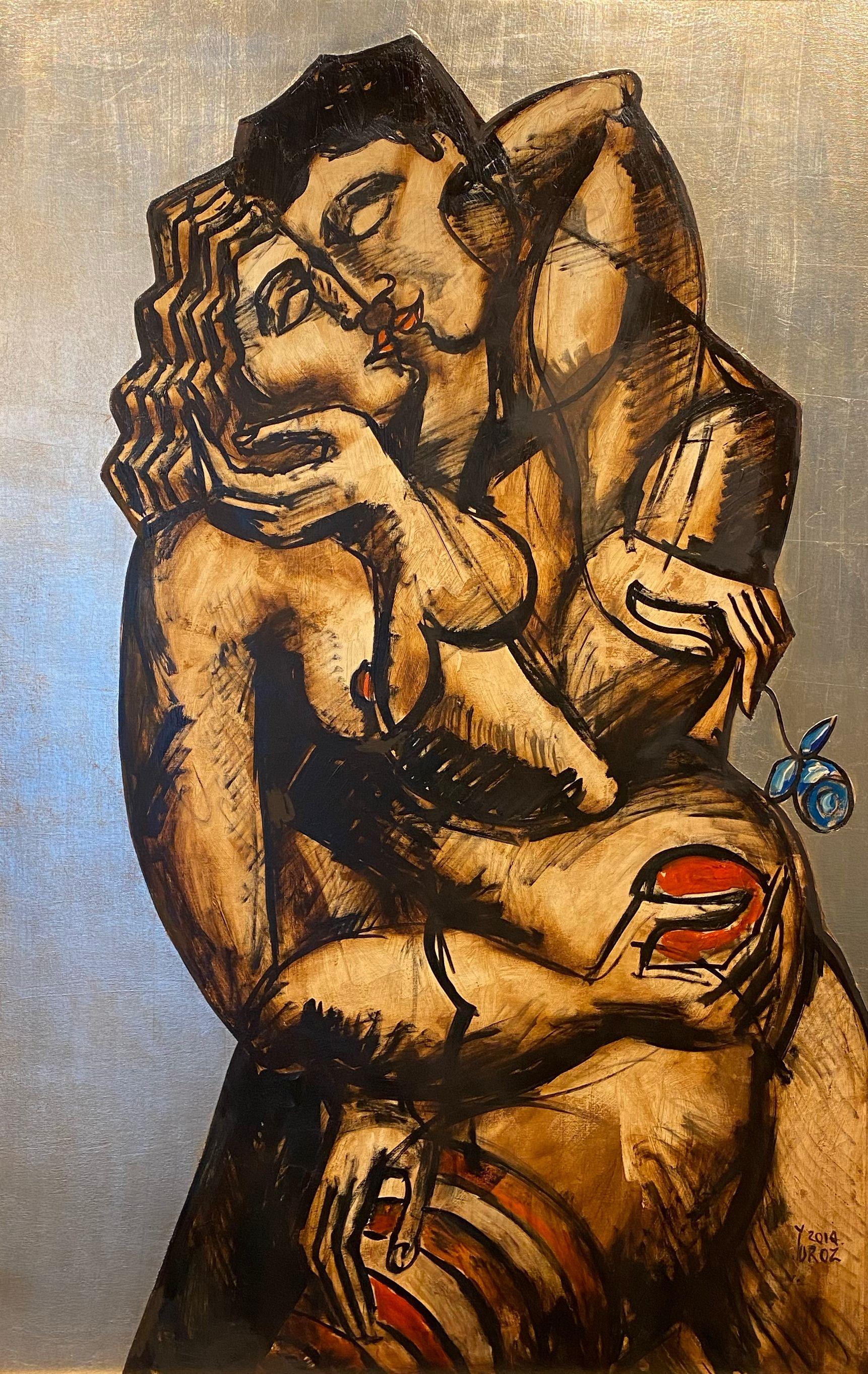 Yuroz - Impassionate Caress - Original Painting - Off The Wall Gallery Houston