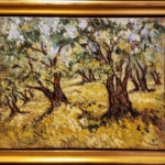 Samir Sammoun - Olive Grove Before Harvest - Painting - Original oil on canvas - Off The Wall Gallery Houston