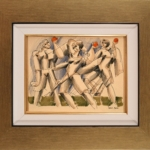 Yuroz - Women and Their Horse - Mixed media - Off The Wall Gallery Houston