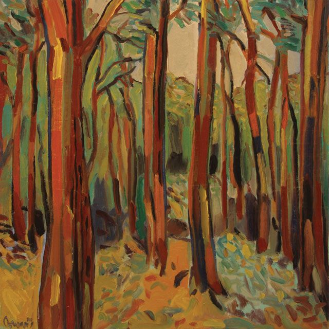 Ted Coward - Deep Woods I, 2019; Painting; Original oil on canvas; Signed; Contemporary Art; Off The Wall Gallery Houston