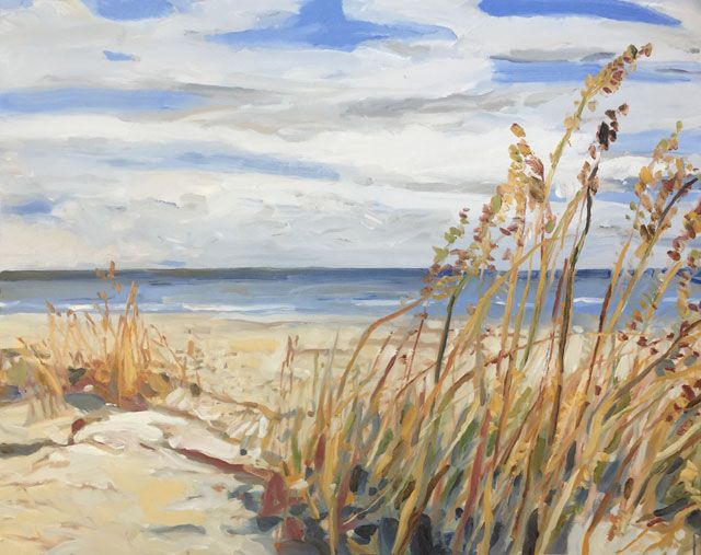 Ted Cowart - Wild Gulf Coast Grasses IX, 2019; Painting; Original oil on canvas; Signed; Contemporary Art; Off The Wall Gallery Houston
