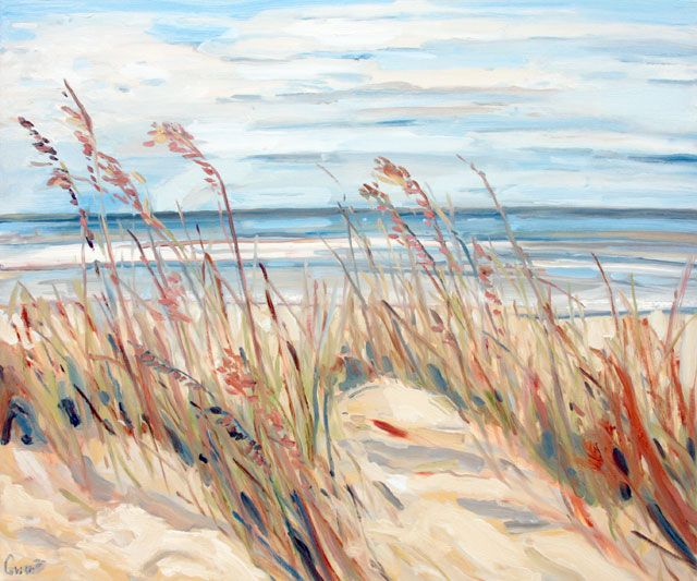 Ted Cowart - Wild Gulf Coast Grasses VII, 2019; Painting; Original oil on canvas; Signed; Contemporary Art; Off The Wall Gallery