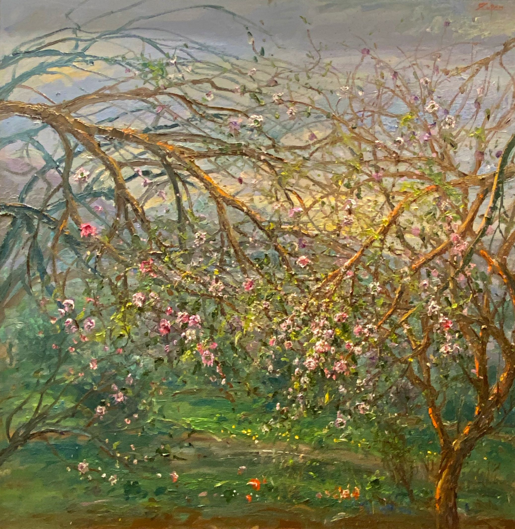 Bruno Zupan - Outlying Fields, Valldemossa, 2018; Painting; Original oil on canvas; Signed; Impressionism; Landscape; Off The Wall Gallery Houston