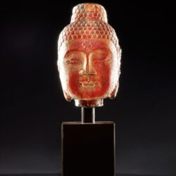 Stone Buddha – Roma Red With Flower Stamp